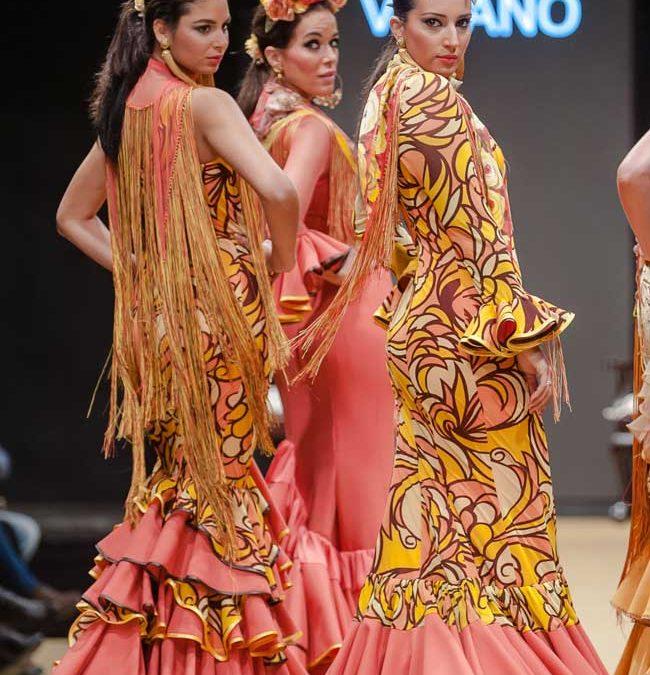 Primavera de flores en la moda flamenca