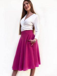 falda capa con talle alto